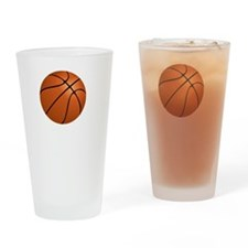 FBC Basketball Smile White Drinking Glass