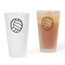 FBC Volleyball Smile White Drinking Glass
