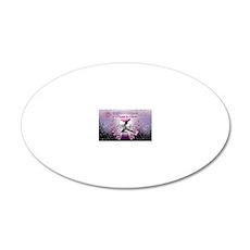 breaking dawn pink angel goo 20x12 Oval Wall Decal