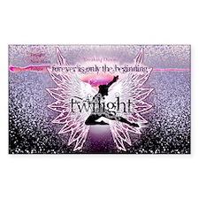 breaking dawn pink angel good  Sticker (Rectangle)
