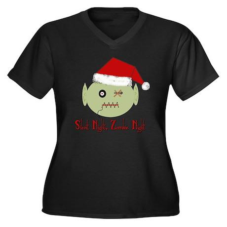 Zombie Night Women's Plus Size Dark V-Neck T-Shirt