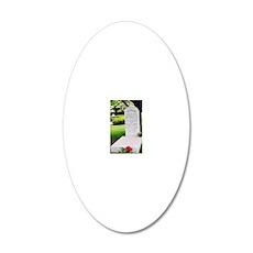 Alydar_grave 20x12 Oval Wall Decal