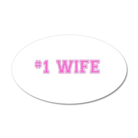 #1 Wife pink Wall Sticker