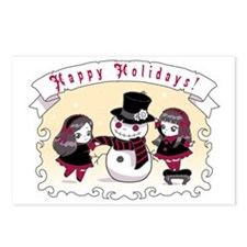 Chibi Gothic Snowman Postcards (Package of 8)