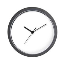 white, Unstoppable Wall Clock