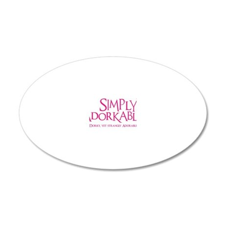 melon, Simply Adorkable 20x12 Oval Wall Decal