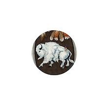 White Buffalo Shield -blue P Mini Button