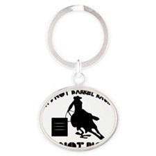 33barrelracing Oval Keychain