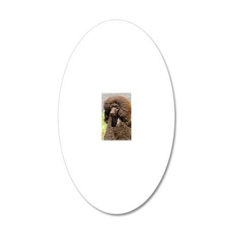 Poodle Standard 9R063D-099 20x12 Oval Wall Decal