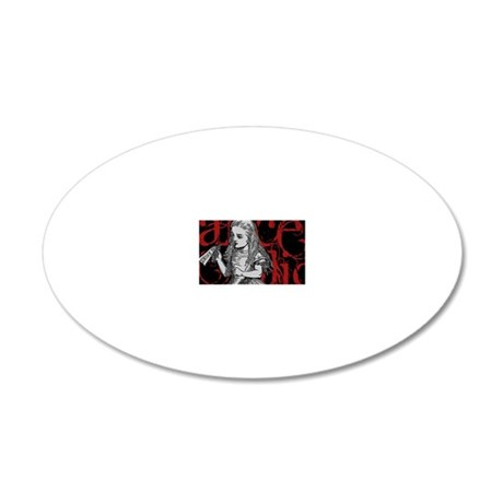alice1-red-2 20x12 Oval Wall Decal