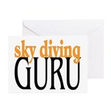 Sky Diving Guru Greeting Cards (Pk of 10)