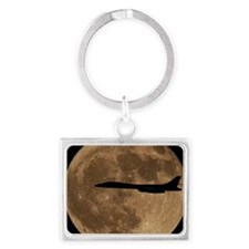 (7) B-1B Moon Flight Landscape Keychain