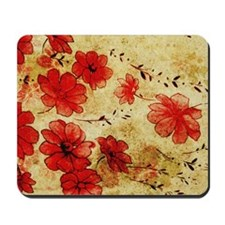 Red Grunge Laptop Mousepad