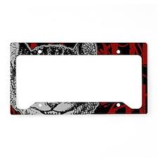cheshirecat-red-2 License Plate Holder