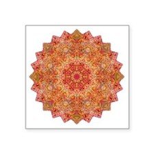 "Earth Mandala Yoga Shirt Square Sticker 3"" x 3"""