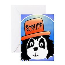 Scruff square Greeting Card
