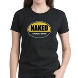 Naked Truck Stop Women's Red T-Shirt