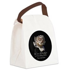 whiterose.round Canvas Lunch Bag