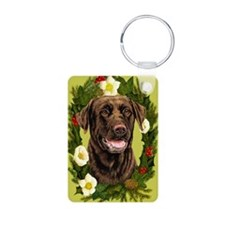 Seasonal Choc Lab Keychains