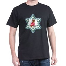 MABC_2A NEW RED Blue  Green Snowflake T-Shirt