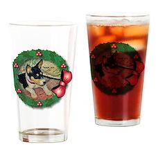 MABC_TRI Basenji Pup w-Red Balls  B Drinking Glass