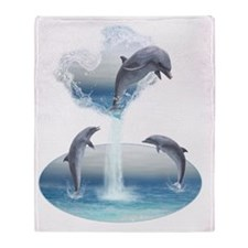 The Heart Of The Dolphins Throw Blanket