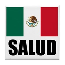 Salud Mexican Drinking Glass Tile Coaster