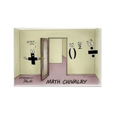 Pi_68 Math Chivalry (7.5x5.5 Colo Rectangle Magnet