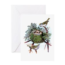 Golden Crowned Greeting Card