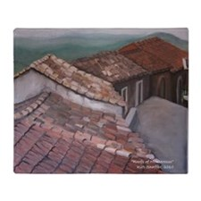 roofs of Monterosso Throw Blanket