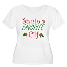 Santas Favorite Elf Plus Size T-Shirt