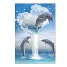 dolphins_iphone_3g_case Postcards (Package of 8)