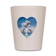 dolphins_necklace_heart_charm Shot Glass
