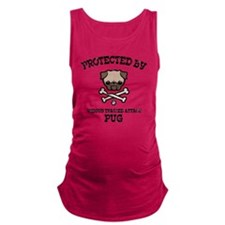 pug-protected-LTT Maternity Tank Top
