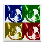 Pop Art Boston Terrier Tile Coaster