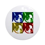 Pop Art Boston Terrier Ornament (Round)