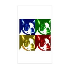 Pop Art Boston Terrier Rectangle Decal