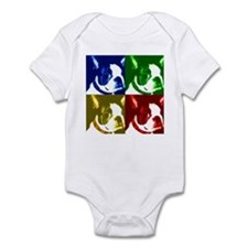 Pop Art Boston Terrier Infant Bodysuit