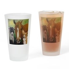 Sarahs Pets 3 Drinking Glass