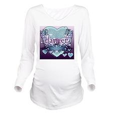 Dancer Forever by Da Long Sleeve Maternity T-Shirt