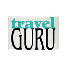 Travel Guru Rectangle Magnet