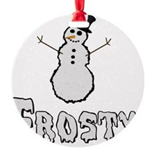 Frosty the Snowman Text Ornament