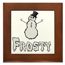 Frosty the Snowman Text Framed Tile