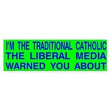 Traditional Catholic & Liberal Media Auto Car Sticker