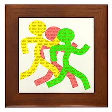 iRun_Figure_RedLetters_ThreeRunners_YG Framed Tile
