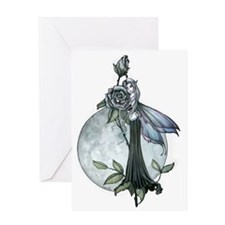 Midnight Rose Fairy Fantasy Art by M Greeting Card