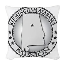 Birmingham Alabama LDS Mission Woven Throw Pillow