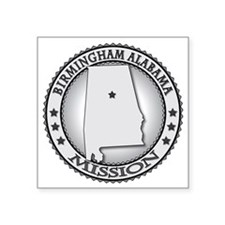 "Birmingham Alabama LDS Miss Square Sticker 3"" x 3"""