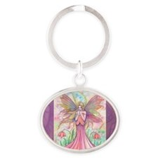 2012 wildflower cafe press Oval Keychain