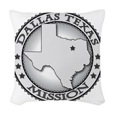 Dallas Texas LDS Mission Woven Throw Pillow